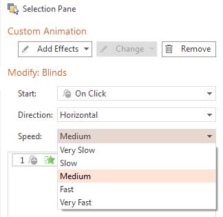 Apply Custom Animation Effects in Presentation
