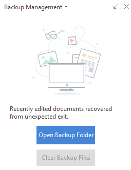 How to Find Backup Files from WPS Office