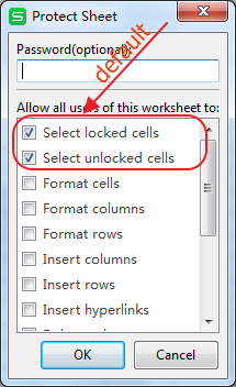 Set Password For Worksheet Or Workbook