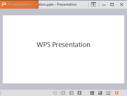 view modes in wps presentation